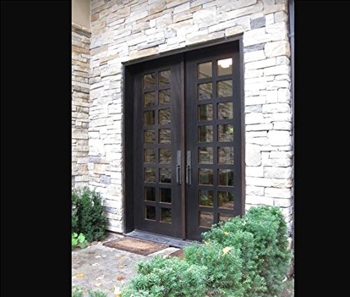 Custom Made Double Exterior Front Entry Double Wooden Glass Door - ITO DOORS - Double Entry Doors
