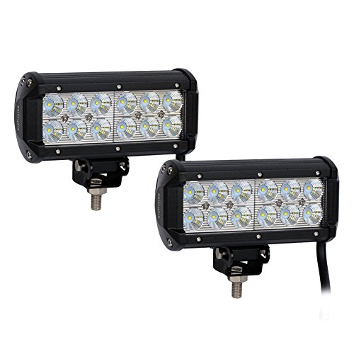 Price comparison product image Surfing Off Road LED Light Bar 2PCS 6.5Inch 36W Flood Light Work Light Super Bright for Jeep Cabin Boat Suv Truck Car Atvs