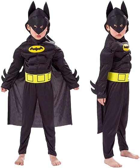Disfraz de carnaval de Batman, color negro y amarillo, incluye ...