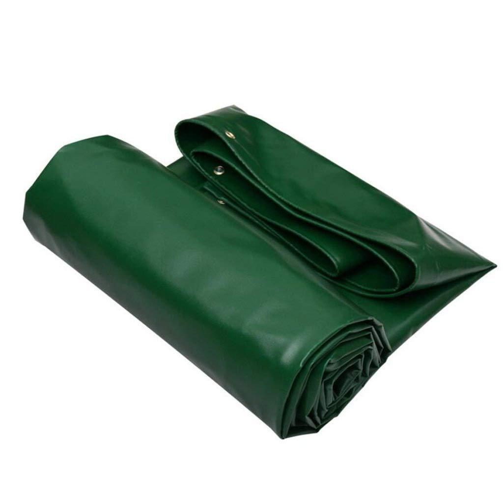 防水シート、防水防水タープ、耐UV性、高密度PVC織シート、キャンプ用、屋外用、グリーン FENGMIMG 6X5M 緑 B07RKQWH44