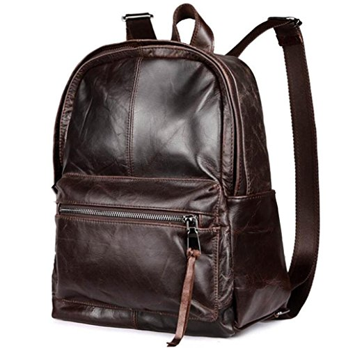 Wax Daily travel Leather Shoulder Leather Bag oil Vintage student Bao casual shopping Backpack work Bag SPx6qAw0