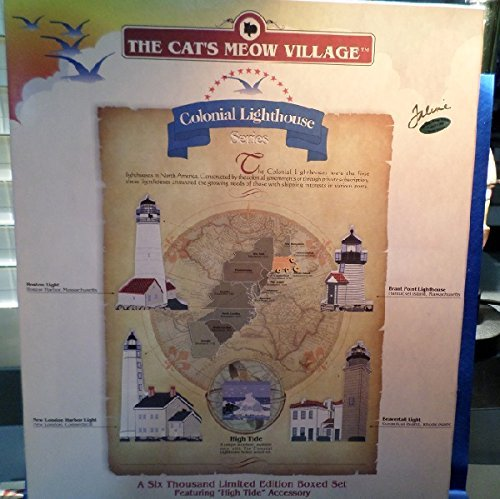 Cat's Meow Village ** Colonial Lighthouse Series, Set of 5 ** #15.005