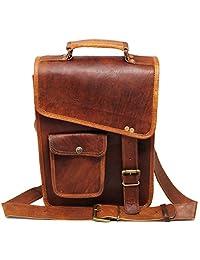 """Leather messenger bag for men women 13"""" Laptop shoulder bag ipad bag satchel for men courier bag briefcase"""