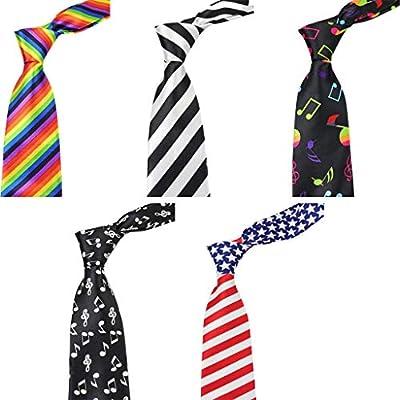 RROVE Hombres Mujeres Corbata clásica de la Bandera Americana ...