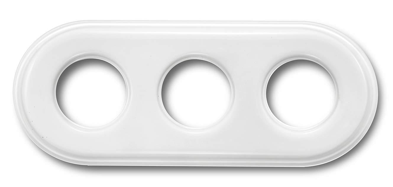 Fontini garby Cadre 3 /él/éments garby porcelaine blanc pack