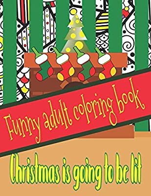 Funny Adult Coloring Book Perfect Gift For Christmas With