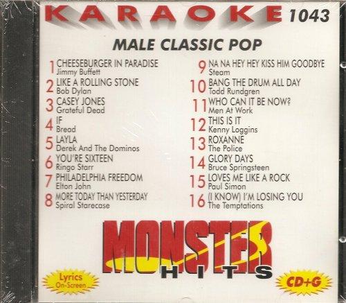 Monster #1043 Karaoke CDG MALE CLASSIC POP & - Simon Karaoke Paul