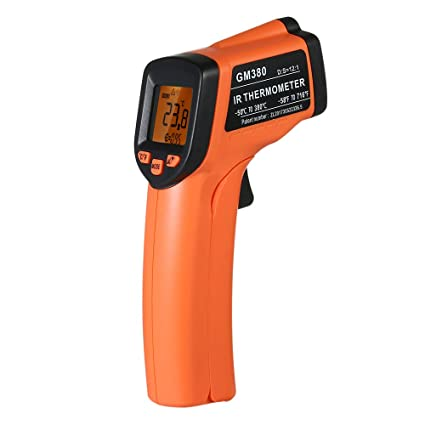 Docooler Infrared Thermometer, Handheld Non-Contact IR Infrared Thermometer Digital Temperature Tester 12:1 Pyrometer LCD Display with Backlight Centigrade Fahrenheit -50?380?(-58?716?)