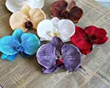 Floral Fall Hawaii Beach Luau Party Artificial Orchids Flowers Hair Pins Barrette Clips HC-09