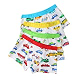 Little Boys Boxer Brief 4 Pack Car Print Boxers Assorted Underwear