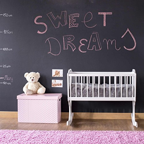 Tafelfolie selbstklebend - Wandttafel Kinderzimmer - DIY Tafel Kreidefolie schwarz, Klebefolie, Kreidetafel, Schiefertafel, Wandtafel, Dekofolie
