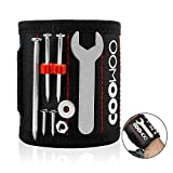 #4: COOWOO Magnetic Wristband Tools Belts with Strong Magnets for Holding Screws, Nails, Drill Bits - Best Unique Tool Gift for Men, DIY Handyman, Father/Dad, Husband, Boyfriend, Him, Women(Black)