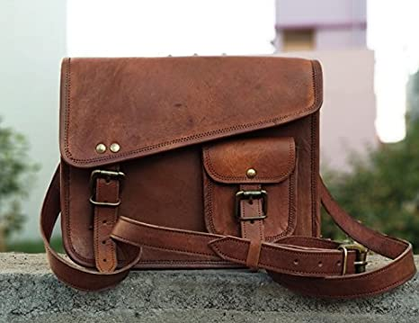 c21ffab9209 Image Unavailable. Image not available for. Color  DHK- Stylish Men s  Genuine Leather Brown Shoulder ...