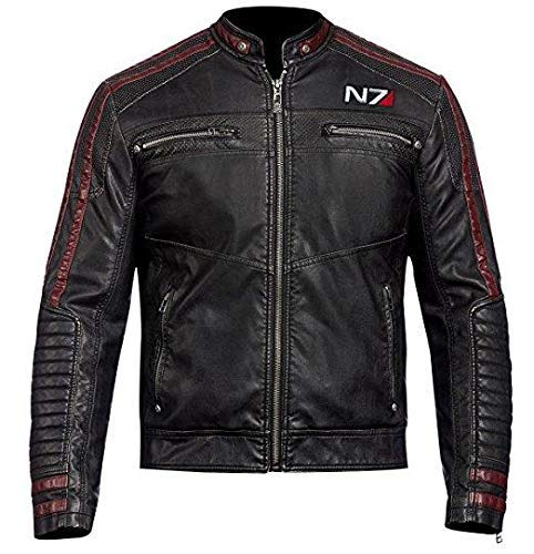 Mass Effect 3 Mens Jacket - N7 Cafe Racer Leather Jacket for sale  Delivered anywhere in USA