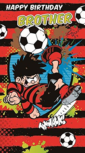 Beano Dennis The Menace And Gnasher Brother Birthday Card Amazon