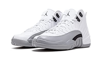 Authentic Air Jordan 12 Barons White Black-Wolf Grey Sale