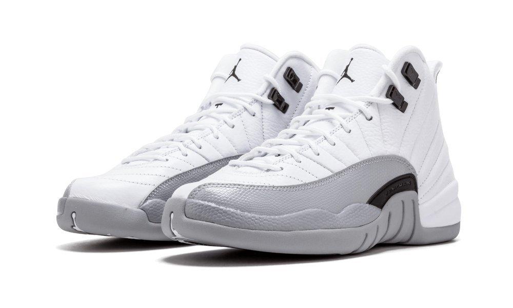 Nike Air Jordan Retro XII 12 GG Baron White Wolf Grey 510815-108 GS (4)