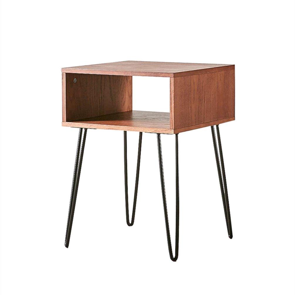 CSQ ソリッドウッドのベッドサイドテーブル、クリエイティブベッドルームベッドサイドキャビネット鉄のアートソファテーブルいくつかのサイドコーナーいくつかのストレージテーブル装飾テーブル小さなコーヒーテーブル42 * 42 * 55CM (サイズ さいず : 42*42*55CM) B07DZLQ6WV42*42*55CM
