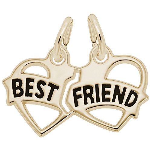 Rembrandt Charms, Best Friend, 22k Yellow Gold Plated Silver, Engravable