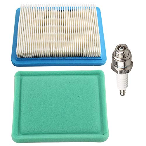 - Butom 491588S 491588 Air Filter + 493537S 493537 Pre-Cleaner for Briggs & Stratton Engines w/Spark Plug