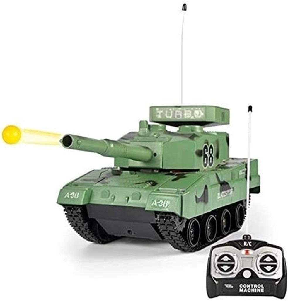 JYXMY 2020 Nueva Rc tanque de batalla RC BB Panzer Tank, radio control remoto militar tanque de batalla for el muchacho, juguetes militares que dispara balas de Airsoft las muchachas del muchacho de c