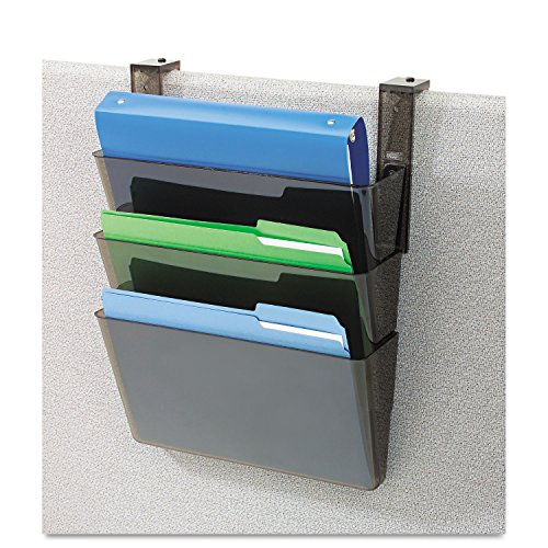 (deflecto 73502RT Three-Pocket File Partition Set with Brackets, Letter, Smoke)