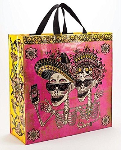 Blue Q Bright Pink Day of the Dead Shopper. ()