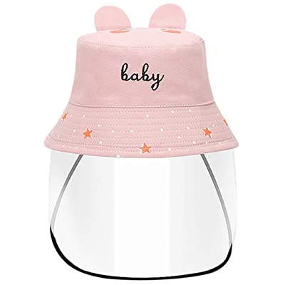 Silver Basic Baby Boys Baby Girls Anti-Saliva Unremovable Transparent Shelter Fisherman Hat-EDBaby-Pink-Child4: Clothing