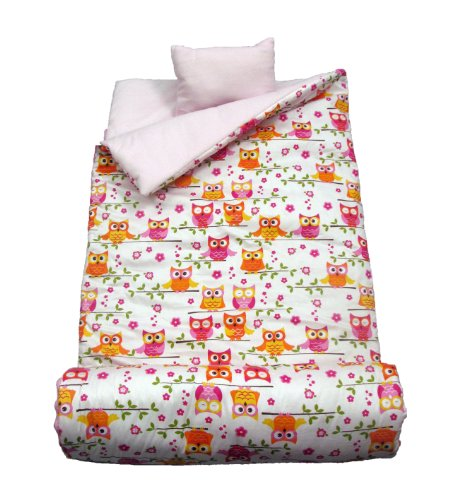 Olive Kids Collection - SoHo Kids Collection, Classic Sleeping Bag (Pink Owls)