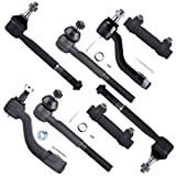 SCITOO Tie Rod End Assembly Tie Rod End Adjusting Sleeves Idler Arm Pitman Arm 1999 2000 Cadillac Escalade 1993 1994 Chevrolet Blazer K1500 K2500 8PC
