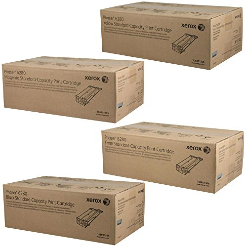 Xerox 106R01388, 106R01389, 106R01390, 106R01391 Standard Yield Toner Cartridge Set - Phaser 6280