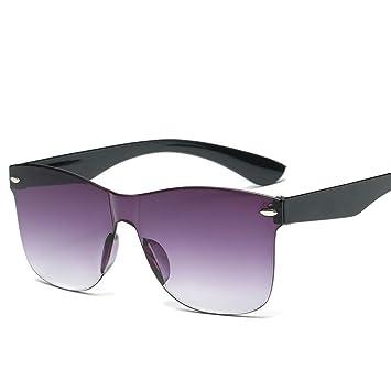 Chudanba Espejo Gafas de Sol Mujer Moda Hombre Color Gafas ...