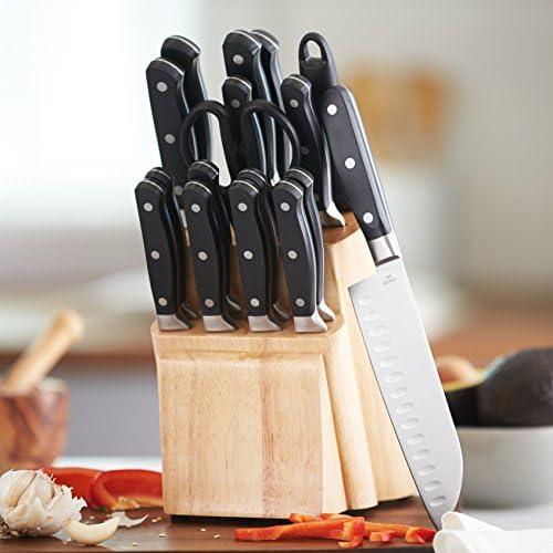 AmazonBasics Bloc de couteaux 18 pièces haut de gamme