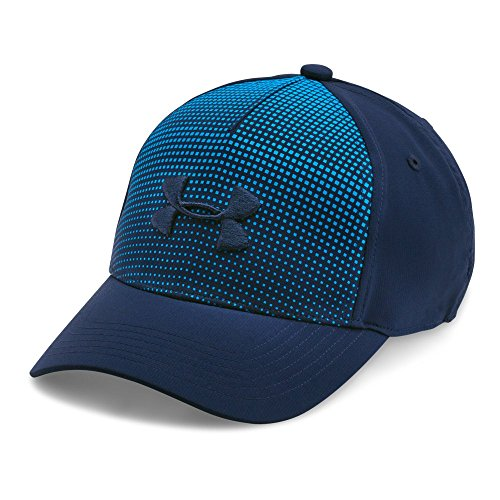 Price comparison product image Under Armour Boys' Fade Curved Visor Stretch Cap, Midnight Navy (410)/Midnight Navy, Youth Small/Medium