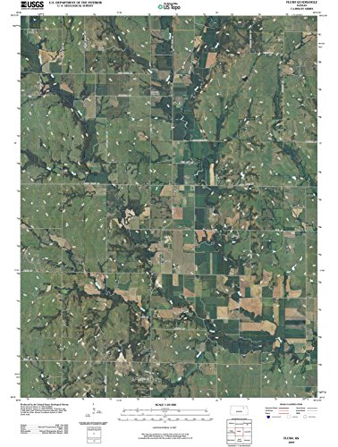 - Kansas Maps | 2009 Flush, KS USGS Historical Topographic | Cartography Wall Art | 33in x 44in