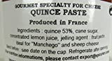 Quince Paste French Imported confit for cheeses 4.4 oz jar by lEpicurien France