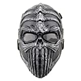 gas airsoft glock - Airsoft Mask,YASHALY Skull Full Face Tactical CS War Game Mask with Metal Mesh Eye Protection