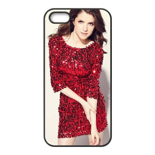 Anna Kendrick coque iPhone 4 4S cellulaire cas coque de téléphone cas téléphone cellulaire noir couvercle EEEXLKNBC23033