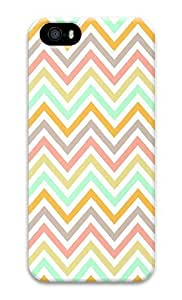 IMARTCASE iPhone 5S Case, Chevron Pattern Seamless Pattern In Pastel PC Hard Plastic Case for Apple iPhone 5S and iPhone 5 by lolosakes by lolosakes