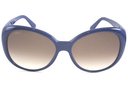 nouvelle arrivee 81599 246a7 Hogan - Lunette de soleil - Femme bleu bleu: Amazon.fr ...