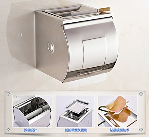 Sucastle To be exempted from the punch, stainless steel, paper box with (Stackable Ashtray)