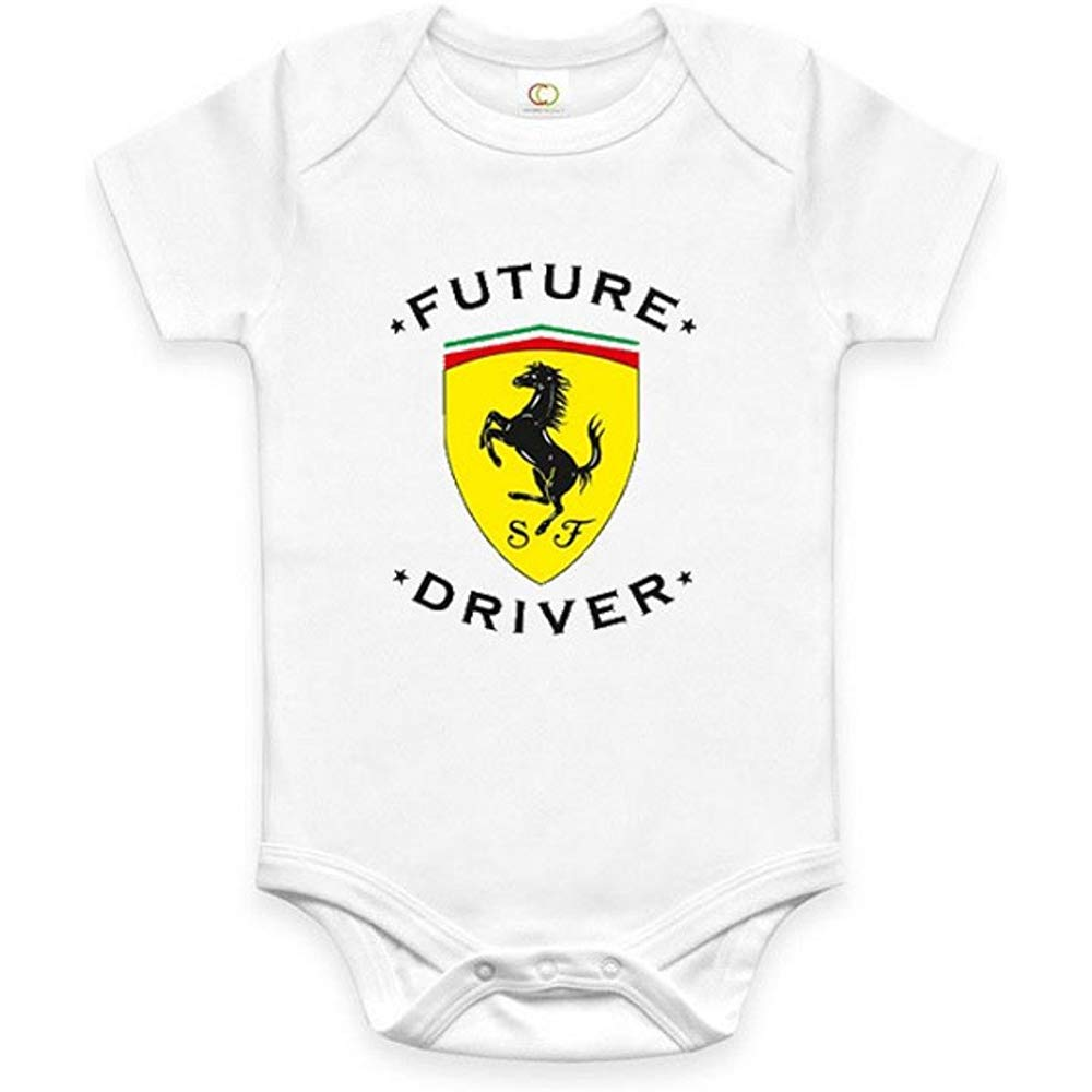 Custom Souvenirs Rare New Future Ferrari Driver Automatic Baby Fun One Piece Jumpsuit Jumpsuit 6Months