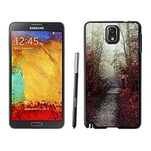 NEW Unique Custom Designed Samsung Galaxy Note 3 N900A N900V N900P N900T Phone Case With Misty Autumn Path_Black Phone Case