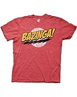 The Big Bang Theory Bazinga! Mens Red Heather T-shirt