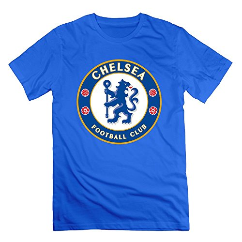 Chelsea Soccer Club Men's Novelty Adult Short Sleeve T-Shirt Royal Blue (Chelsea Football Club Shirt)