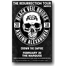 Black Veil Brides Poster - Vale Ressurection Tour w/ Asking Alexandria Andy 11 x 17 inches 2018