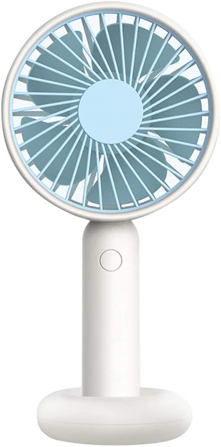 856store Fans Cooling Portable Mini Handheld Fan with Stand Cradle Wind Blower for Laptop Computer