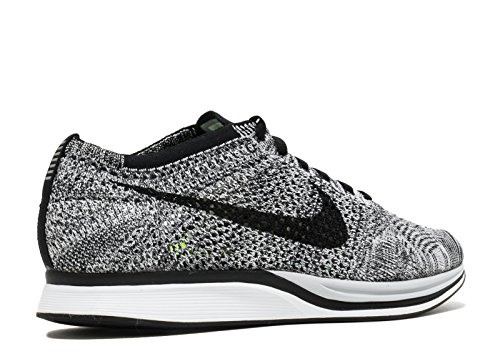 Nike Flyknit Racer Zapatillas de Deporte, Unisex Adultos Blanco / Negro / Verde (White / Black-Volt)