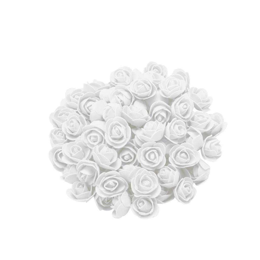 Cyhulu New Fashion Creative 100Pcs Foam Rose Flower Heads Best Lover Gifts for Wedding Birthday Valentine Mother's Day Favors Decoration (A, One size)