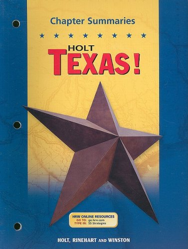 Download Holt Texas! Texas: Chapter Summaries pdf